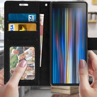 Flip Stand Cover Brieftasche & Standfunktion für Sony Xperia 10 - Schwarz - Vorschau 3
