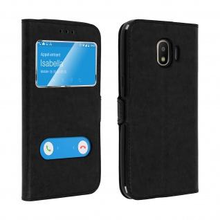 Flip Cover Doppelfenster& Standfunktion Samsung Galaxy Grand Prime Pro - Schwarz