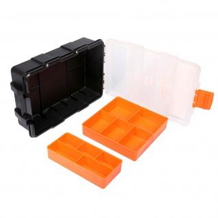 Aufbewahrungsbox aus Kunststoff - Bits/Komponenten 10 Fächer Jakemy Orange