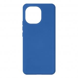 Halbsteife Silikon Handyhülle für Xiaomi Mi 11 5G, Soft Touch ? Blau