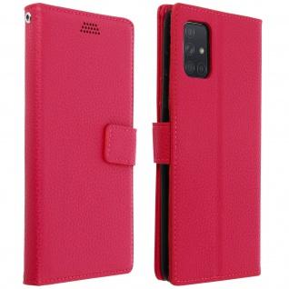 Samsung Galaxy A71 Flip-Cover mit Kartenfächern & Standfunktion â€? Rosa