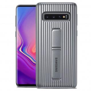 Original Samsung Standing Backcover Case für Samsung Galaxy S10 Plus - Silber