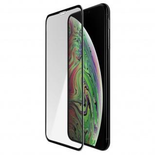 5D Full Cover Displayschutzfolie aus Glas für Apple iPhone XS Max - Rand Schwarz