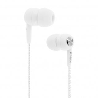 Devia in-ear Kopfhörer 3.5mm Klinkenstecker, Mikrofon & Fernbedienung - Weiß