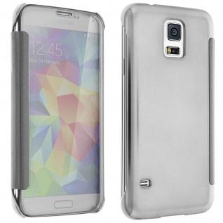 Silberfarbene Clear View Schutzhülle für Samsung Galaxy S5, Galaxy S5 New