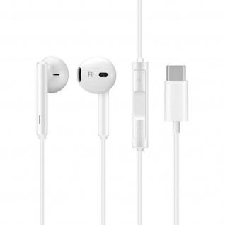 Original Huawei in-ear Kopfhörer mit Fernbedienung, USB-C Stecker ? Weiß