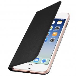 Flip Book Cover Schutzhülle für Apple iPhone 7 Plus / 8 Plus - Schwarz