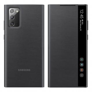 Original Samsung Clear View Cover für Samsung Galaxy Note 20 â€? Schwarz