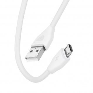 USB /Micro-USB Kabel 2.1A Lade- und Synchronisationskabel 20cm CK21 Inkax ? Weiß