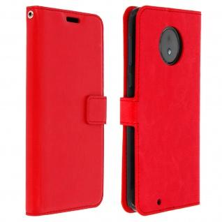 Flip Cover Stand Case Brieftasche & Standfunktion für Motorola Moto G6 - Rot