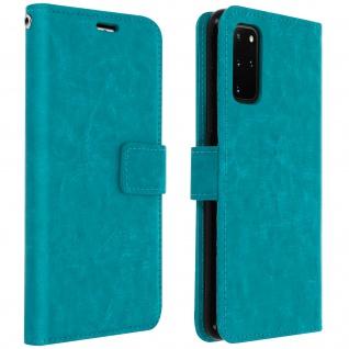 Flip Cover Stand Case Brieftasche & Standfunktion Samsung Galaxy S20 Plus - Blau