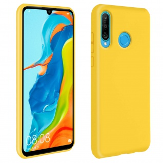 Halbsteife Silikon Handyhülle Huawei P30 Lite, Soft Touch - Gelb