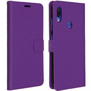 Flip Book Cover, Klappetui aus Kunstleder für Xiaomi Redmi Note 7 - Violett