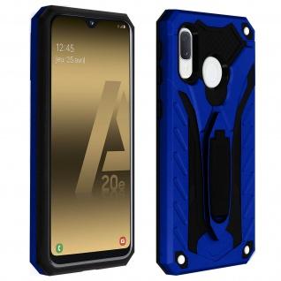 Samsung Galaxy A20e Hybrid stoßfeste Schutzhülle mit Ständer - Blau