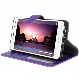 Flip-Cover Stand Case Brieftasche & Standfunktion für Huawei Y6 2017 - Violett - Vorschau 4