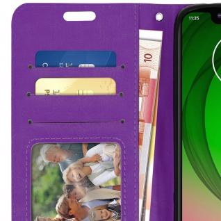 Flip Stand Cover Brieftasche & Standfunktion für Motorola Moto G7 Play - Violett - Vorschau 5