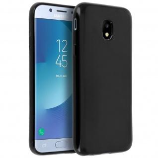 Flexible Schutzhülle aus Silikon für Samsung Galaxy J3 2017 - Schwarz