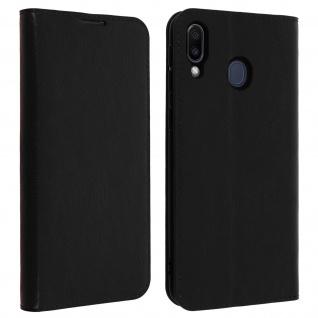 Business Leder Cover, Schutzhülle mit Geldbörse Galaxy M20 ? Schwarz