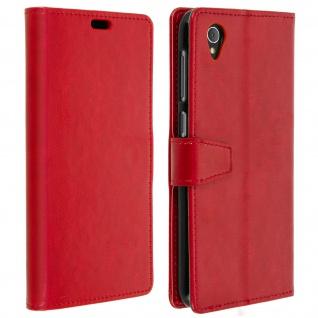 Flip Cover Stand Case Brieftasche & Standfunktion für Alcatel 1 - Rot