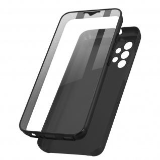 Schutzhülle für Samsung Galaxy A32, Vorder- + Rückseite ? Schwarz