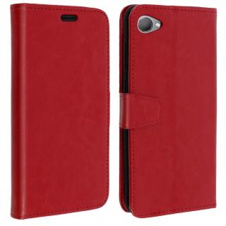Flip Book Cover, Klappetui aus Kunstleder für HTC Desire 12 - Rot