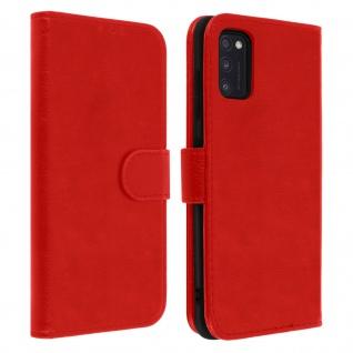 Flip Cover Geldbörse, Klappetui Kunstleder für Samsung Galaxy A41 ? Rot