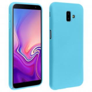 Samsung Galaxy J6 Plus stoßfeste Soft Touch Schutzhülle - Blau