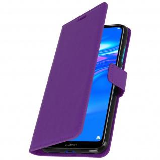 Flip Stand Cover Brieftasche & Standfunktion für Huawei Y7 2019 - Violett - Vorschau 2