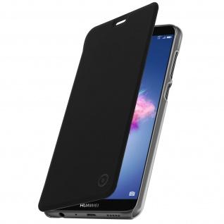 Muvit Flip Cover Geldbörse mit Crystal Case für Huawei P Smart - Schwarz