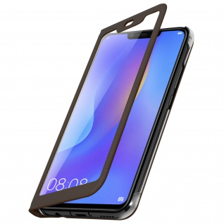 Smart View Flip Cover, Klappetui für Huawei P Smart Plus - Braun - Vorschau 2