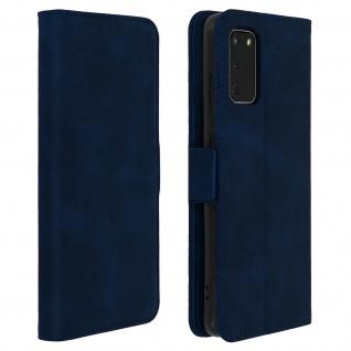 Klapphülle mit Kartenfächer / Standfunktion für Samsung Galaxy S20 - Dunkelblau