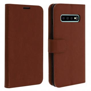 Flip Stand Cover Brieftasche & Standfunktion für Samsung Galaxy S10 - Braun