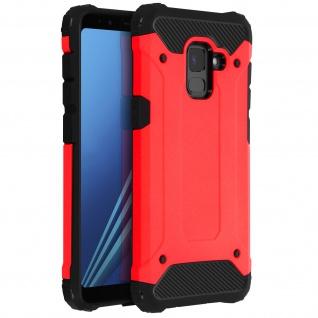 Defender II stoßfeste Hülle für Samsung Galaxy A8 ? Fallfest (1, 80m) ? Rot