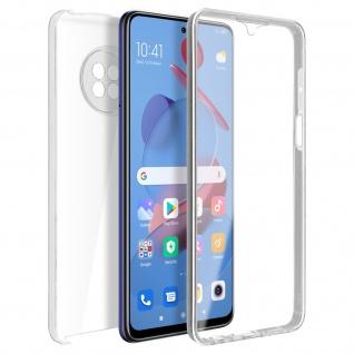 Schutzhülle für Xiaomi Mi 10T Lite, Vorder- + Rückseite ? Transparent