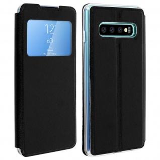 Samsung Galaxy S10 Flip Cover Sichtfenster & Kartenfach - Schwarz