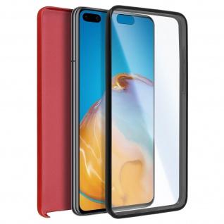 Schutzhülle für Huawei P40, Vorder- + Rückseite ? Rot