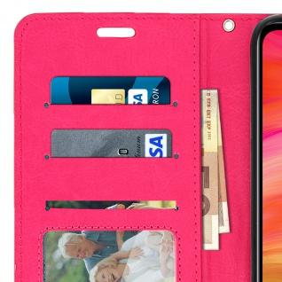 Flip Stand Cover Brieftasche & Standfunktion für Xiaomi Redmi Note 7 - Rosa - Vorschau 5