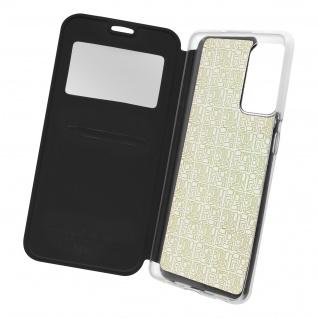 Samsung Galaxy A72 Kunstlederetui mit Sichtfenster & Kartenfach � Schwarz
