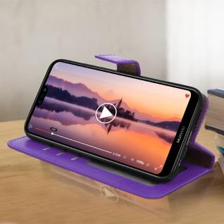 Flip Cover Stand Case Brieftasche & Standfunktion für Huawei P20 Lite - Violett - Vorschau 3