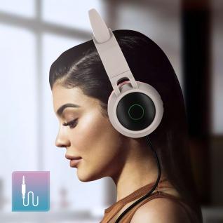 Katzenohren kabellose Bluetooth Kopfhörer, Kitty Headset ? Beigegrau - Vorschau 5