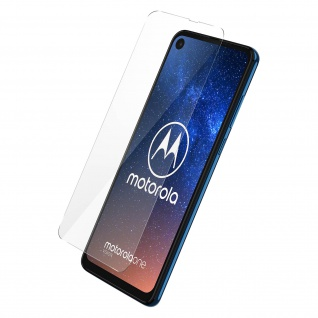 9H Härtegrad Glas-Displayschutzfolie Motorola One Vision/One Action - Schwarz