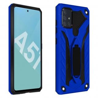 Samsung Galaxy A51 Hybrid stoßfeste Schutzhülle mit Ständer - Blau