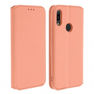 Kunstleder Cover Classic Edition Honor 8A , Huawei Y6 2019 - Rosegold
