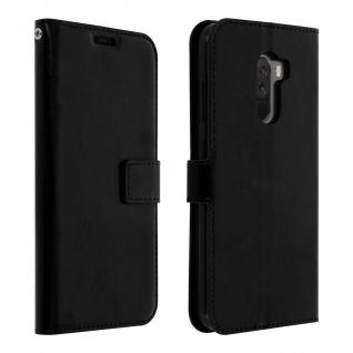 Flip Stand Cover Brieftasche & Standfunktion Pocophone F1 - Schwarz