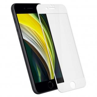 Displayschutzfolie aus Hartglas Schutz für iPhone 7/ iPhone 8 ? Rand Weiß