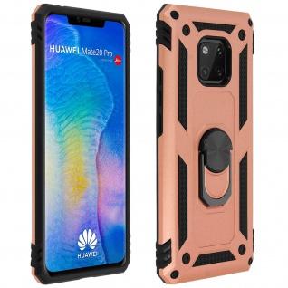 Hybrid Handyhülle mit Ring Halterung für Huawei Mate 20 Pro - Rosegold