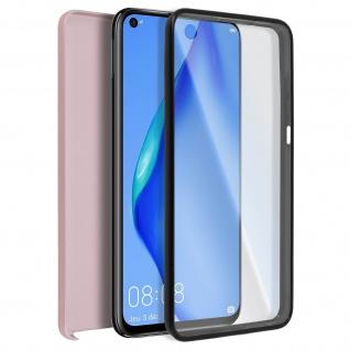 Schutzhülle für Huawei P40 Lite, Vorder- + Rückseite ? Rosa