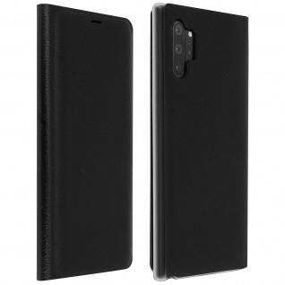 Flip Book Cover, Klappetui aus Kunstleder für Galaxy Note 10 Plus - Schwarz