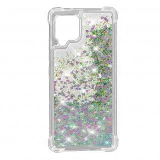 Samsung Galaxy A42 5G Flexible Bumper Handyhülle, Glitter Schutzhülle - Weiß