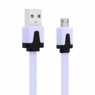 Micro-USB/ USB 3m Flachkabel â€? Aufladen / Synchronisierung â€? Weiß